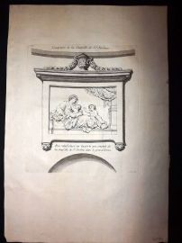 Granet 1736 Antique Print. Sculpture de la Chapelle de St. Jerome 103